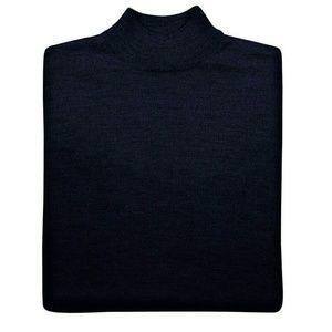 New Jos A Bank Sweater L Mock Merino Wool Navy